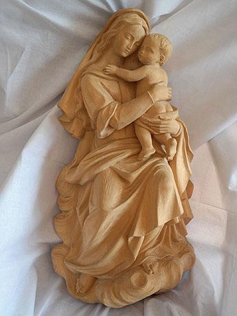 drevorezba madona s Ježiškom