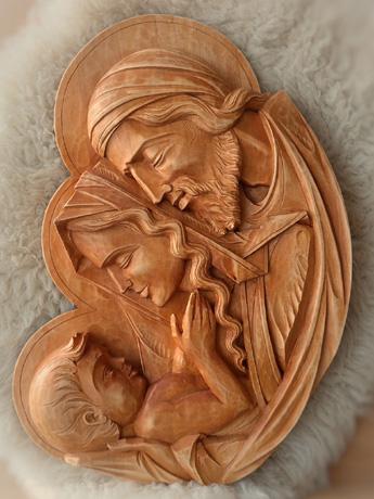 drevorezba od rezbára - Ježiš v náručí (typ č.1)